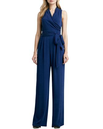 Catherine Malandrino Favorites Wrap-Front Jumpsuit