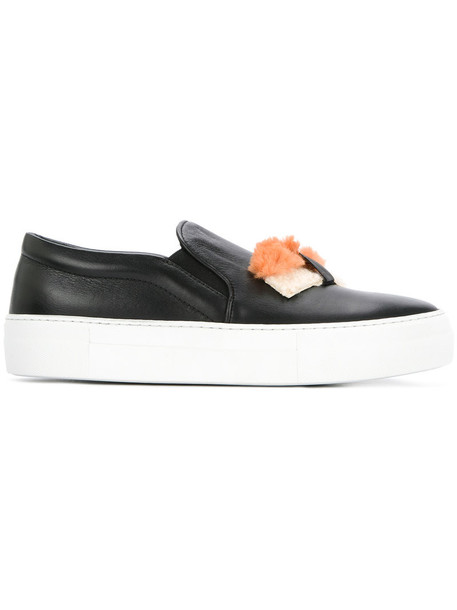 women sushi sneakers leather black shoes