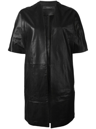 jacket short women leather black