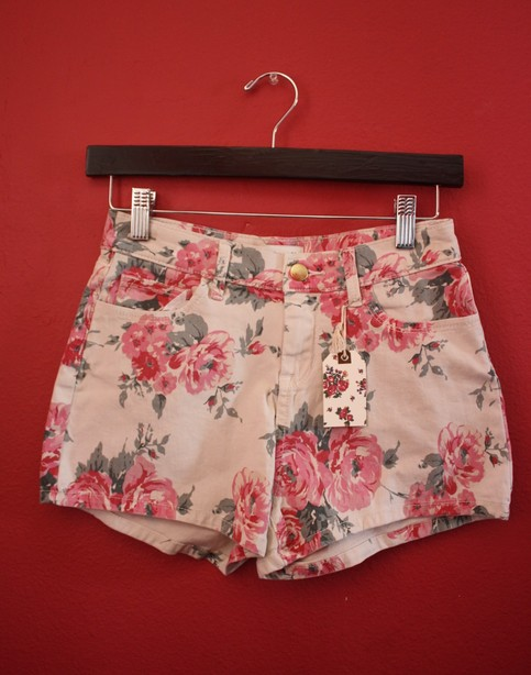 Floral high shorts from cutesy closet on storenvy