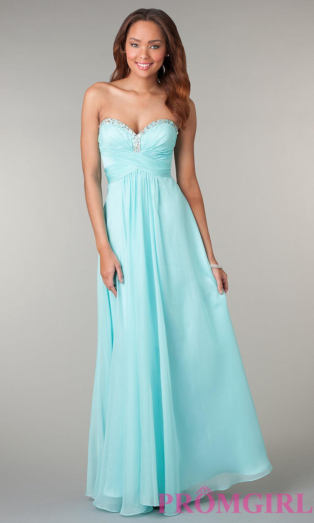 Mint Strapless Prom Dress