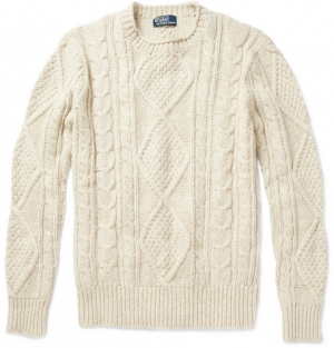 Cable knit aran sweater