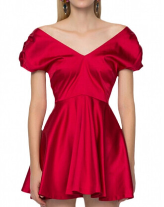 dress red red dress red prom dresses skirt top party party dress blackfive clothes beauty fashion girly cute dress sexy dress outfit pleated prom dress
