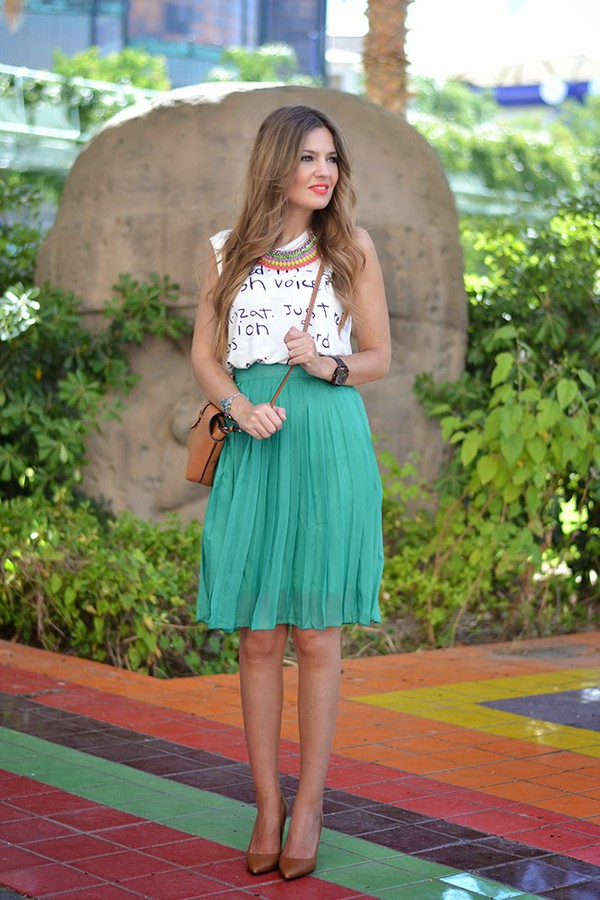 mi aventura con la moda skirt t-shirt jewels bag shoes