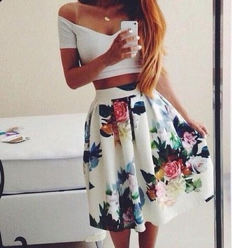 top white top skirt blouse shirt