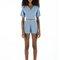 Designer resort shorts - jo sky blue