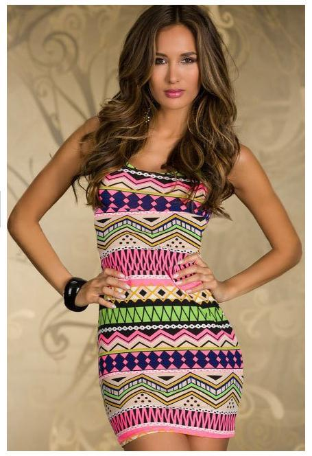 New women sexy bandage dresses festival aztec printed cut out zipper bodycon clubwear party for lady slim dress zjp053 810