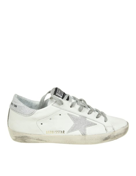 Golden goose sneakers. glitter sneakers leather white shoes