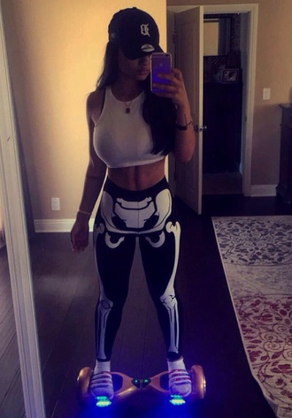 leggings india westbrooks summer sports skeleton printed leggings home accessory