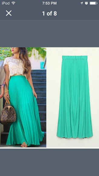 maxi skirt top cop top Red Lime Sunday