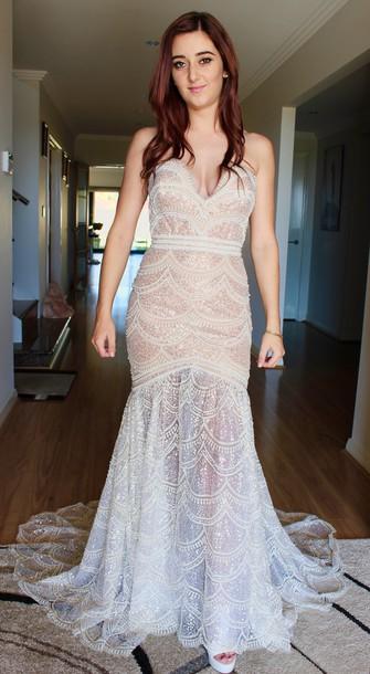 dress, wedding dress, scalloped design dress, made to measure ...