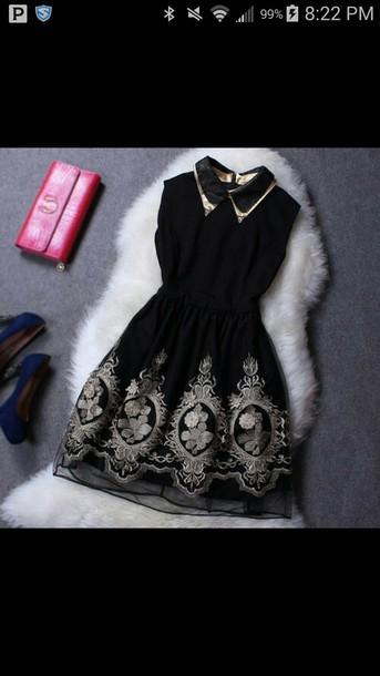 dress black dress wallet