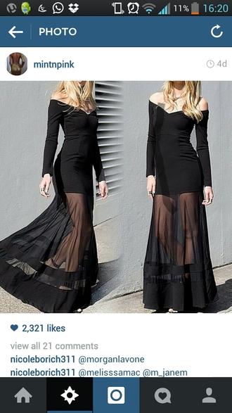 black dress long sleeve dress lace dress