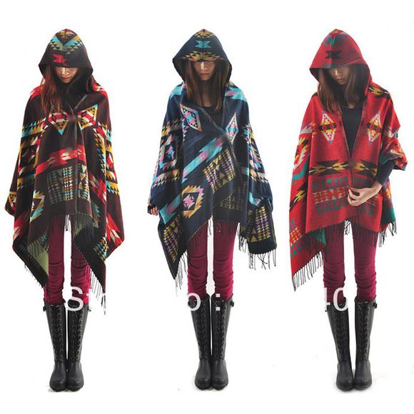 poncho native american hoodie