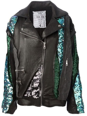 jacket sequin jacket fashion style leather jacket gold sequins gypsy sparkle glitter sweater embellished jacket