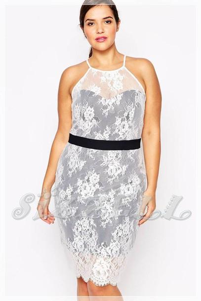 Dress Plus Size Plus Size Dress Lace Dress Lace Black Halter