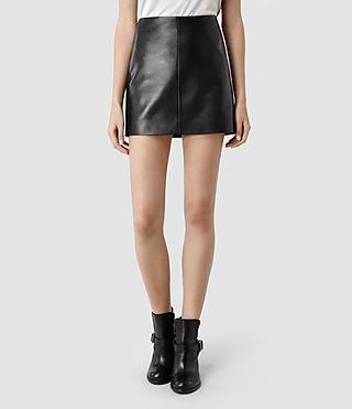 Womens Mini Lucille Skirt (Black) | ALLSAINTS.com