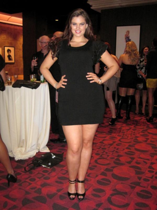 dress, chloe marshall, model, curvy, plus size, mini dress, black ...