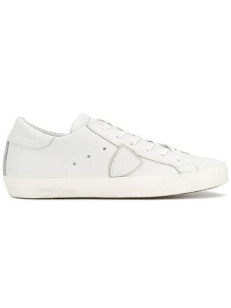 paris women sneakers leather white shoes