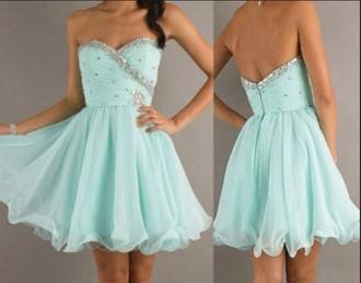 dress mint mint dress blue dress light blue glitter dress sparkle prom dress short prom dress formal party dresses pretty girly trendy iphone perfection