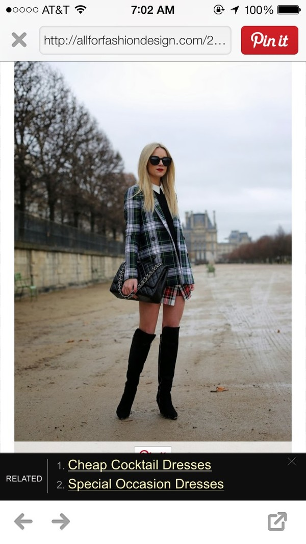 jacket tartan blazer plaid