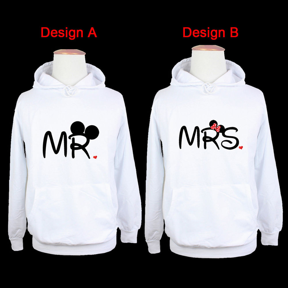 Disney Mickey Mouse Mr Minnie Mouse Mrs Graphic Hoodie
