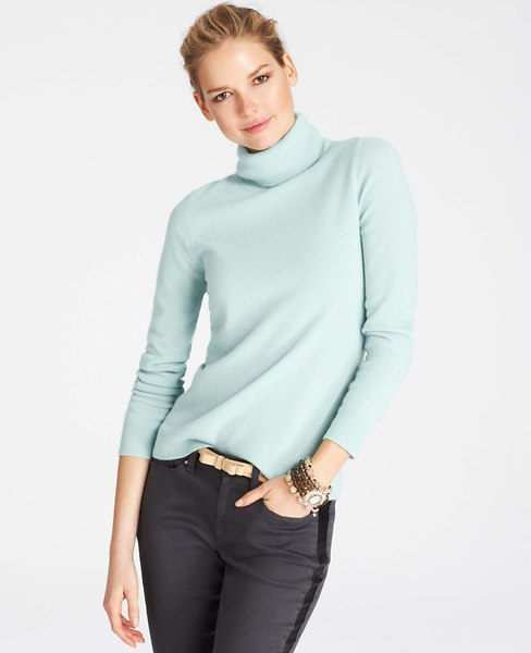 Collectible Cashmere Turtleneck Sweater | Ann Taylor
