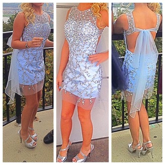 dress prom grey bow sexy girly prom dress homecoming sequins open back homecoming dress sequin dress grey dress open back dresses boho dress sexy dress girly dress