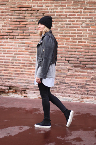 blogger vans casual jacket jeans jane's sneak peak leather jacket