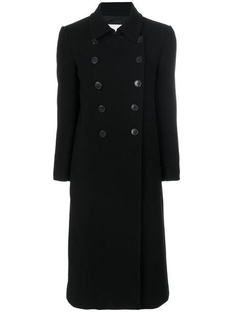 DONDUP coat double breasted long women black wool
