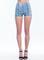 Zip it denim shorts ltblue