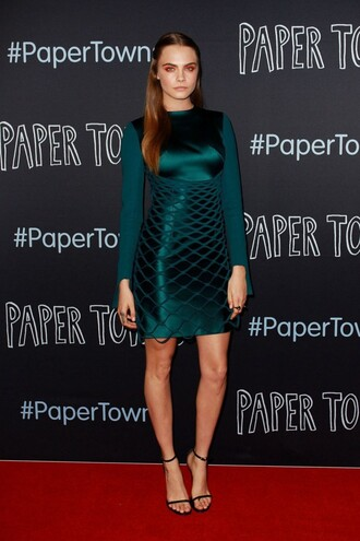 dress cara delevingne paper towns sandals long sleeve dress cocktail dress shoes forest green