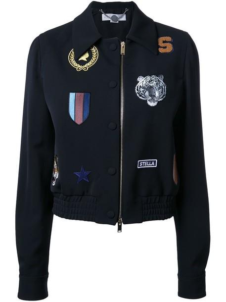 Stella McCartney jacket bomber jacket women black wool