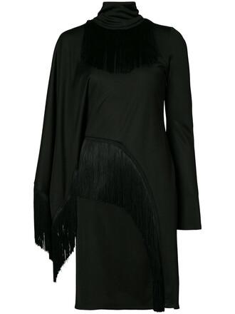 dress fringed dress women black