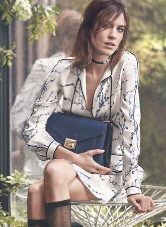 bag alexa chung dress choker necklace purse