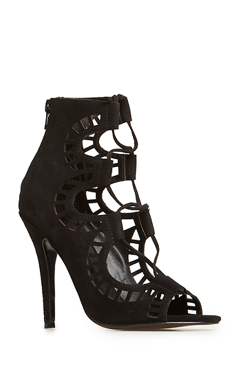 Modern Vice Ghillie Heels in Black 7.5 - 11 | DAILYLOOK