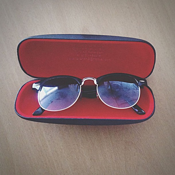 sunglasses black red dope