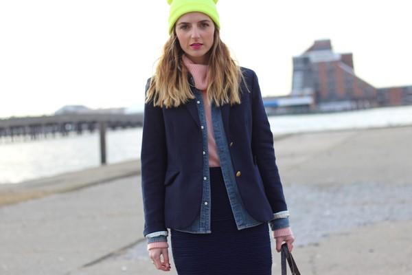 jess style rules skirt sweater shirt jacket bag sunglasses hat shoes