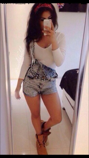 romper summer shorts overalls jeans