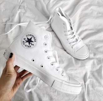 shoes white converse high top sneakers