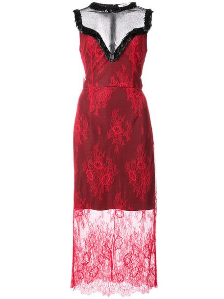 Dvf Diane Von Furstenberg dress women lace red