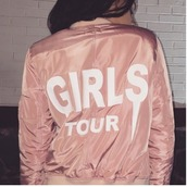 jacket,girl,girly,girly wishlist,tumblr,pink,bomber jacket