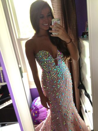 dress prom prom dress sequins sparkly sparkly dress gorgeous