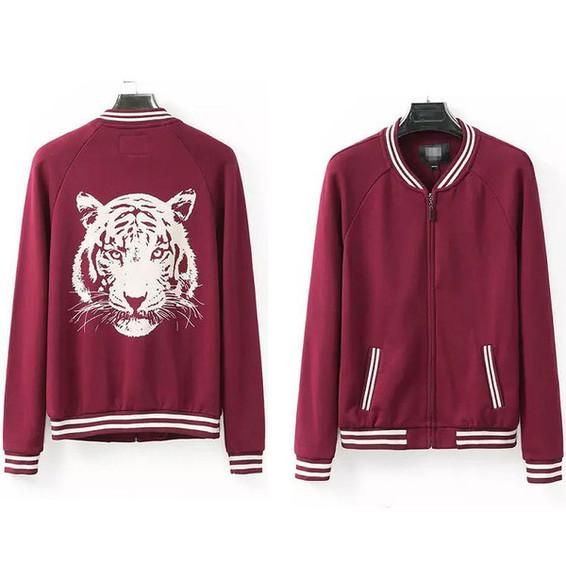 animal print tiger print jacket top purple animals