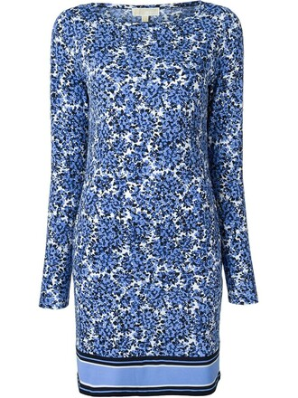 dress shift dress women spandex floral cotton print blue