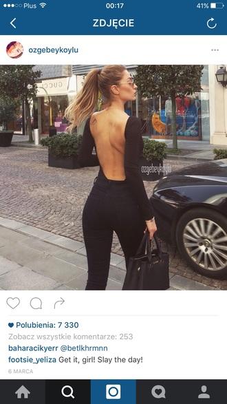 blouse back shirt top black