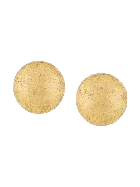 Monies wood women earrings grey metallic jewels