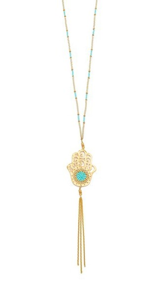 necklace gold turquoise jewels