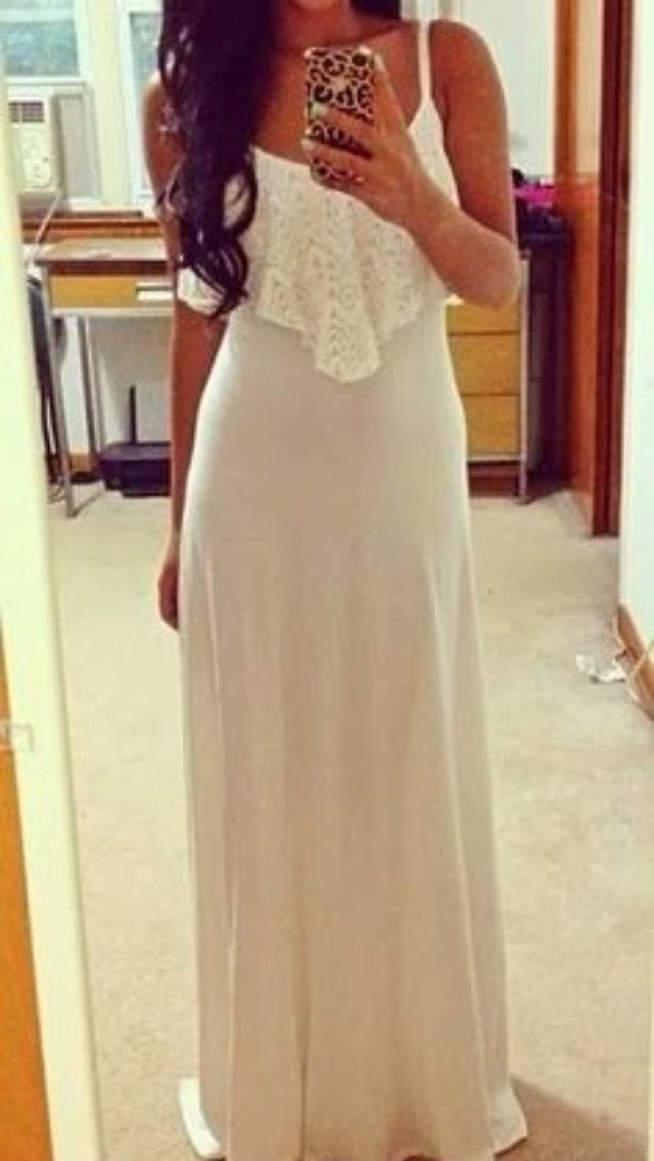 dress flutter top white dress maxi dress flattering white maxi dress white maxi dress with embellished top cute dress