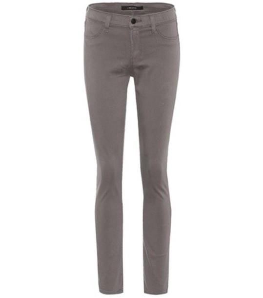 J Brand Mid-rise skinny jeans in grey